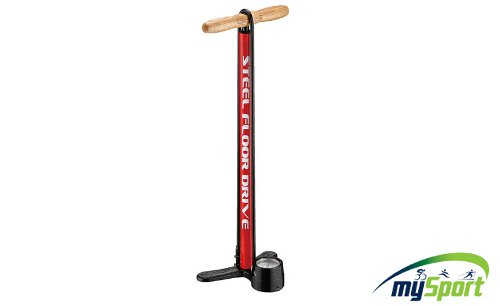 Lezyne Steel Floor Drive Red
