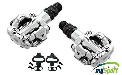 Shimano M520 Clipless SPD Pedals Silver