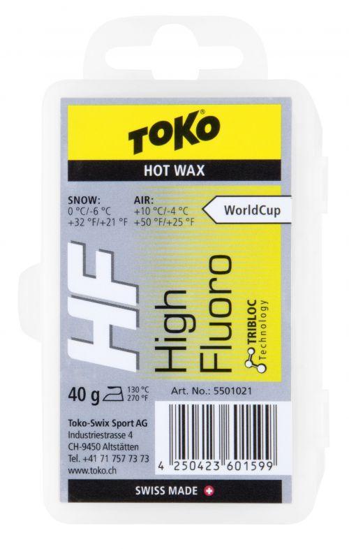 Toko HF Hot Wax yellow 40g, 5501021, glide wax