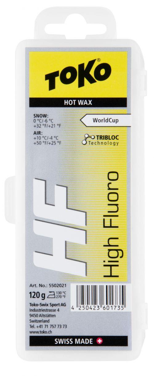 Toko HF Hot Wax Yellow 120g, 5502021, glide wax