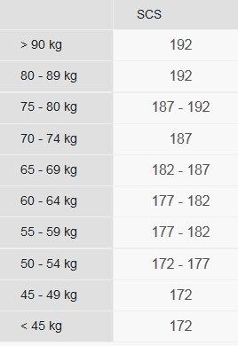 Fischer scs skate size chart